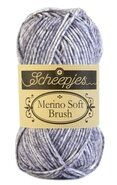 Strick- und Häkelgarne - Merino Soft Brush 253 Grijs