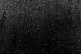 Zwarte meubelstoffen - NB 1500-069 Interieur en decoratiestof velvet zwart
