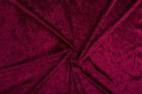 Velours de panne - NB 5666-018 Velours de panne bordeaux