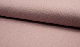Deken - KC8242-013 Gestepte tricot diamond nude/licht oud roze
