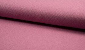 Deken - KC8242-014 Gestepte tricot diamond oudroze