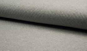 Deken - KC8242-065 Gestepte tricot diamond grijs gemeleerd