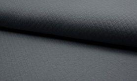 Deken - KC8242-067 Gestepte tricot diamond donkergrijs
