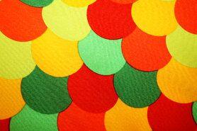 Polyester stof - Texture carnaval fantasie multi groen 9030-4