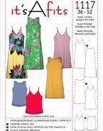 Naaipatronen - It's a fits 1117 Maxi jurken, jurkjes en tops