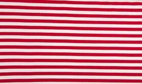 Jersey - MR1089-015 French Terry Streifen rot