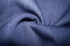Blauwe gordijnstof - BM 322228-13-X Interieur- en gordijnstof blauw