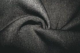 Polyester stof - BM 322228-E6-X Interieur- en gordijnstof donkergrijs