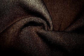 Polyester stof - BM 322228-E8-X Interieur- en gordijnstof donkerbruin