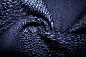 Polyester stof - BM 322228-I-X Interieur- en gordijnstof donkerblauw