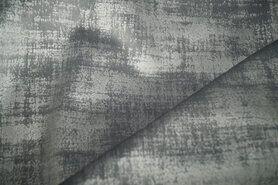 Polyester stof - BM 340066-E3-X Interieur- en gordijnstof fluweelachtig patroon middengrijs