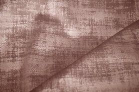Beige meubelstoffen - BM 340066-F7-X Interieur- en gordijnstof fluweelachtig patroon donkerbeige