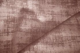 Meubelstoffen - BM 340066-F7-X Interieur- en gordijnstof fluweelachtig patroon donkerbeige