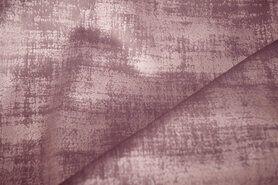 Polyester stof - BM 340066-M4-X Interieur- en gordijnstof fluweelachtig patroon oudroze