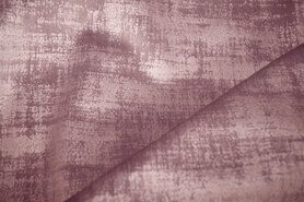 Roze meubelstoffen - BM 340066-M4-X Interieur- en gordijnstof fluweelachtig patroon oudroze