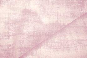 Polyester stof - BM 340066-M14-X-V Interieur- en gordijnstof fluweelachtig patroon licht oudroze