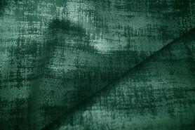 Polyester stof - BM 340066-N1-X Interieur- en gordijnstof fluweelachtig patroon groen