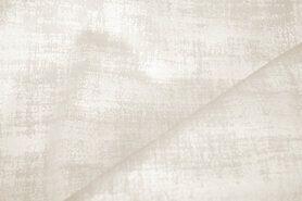 Polyester stof - BM 340066-P-X Interieur- en gordijnstof fluweelachtig patroon ecru