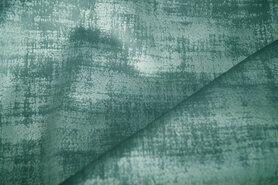 Meubelstoffen - BM 340066-Y7-X Interieur- en gordijnstof fluweelachtig patroon fris oudgroen