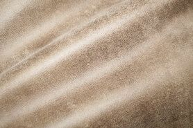 Beige meubelstoffen - BM 322221-P5-X Interieurstof suedine leatherlook beige