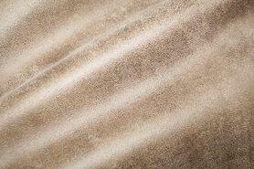 Möbelstoffe - BM 322221-P5-X Dekostoff suedine leatherlook beige