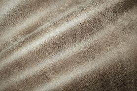 Beige meubelstoffen - BM 322221-V1-X Interieurstof suedine leatherlook lever