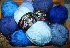 Brei- en haakgarens Colour Crafter - Colour Crafter brei- en haakgarens 8 bollen blauwtinten