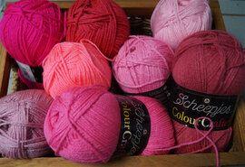 Haak- en breigarens - Colour Crafter brei- en haakgarens 8 bollen rozetinten