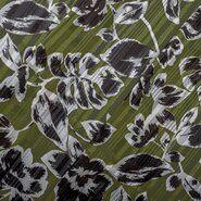 Schal - KN20 16522-219 Floral Satin Lurex Stripe grün