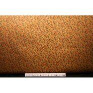 Polyester stof - Ptx 131366-21 Polyester viscose little flowers oranje