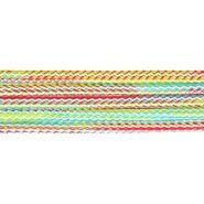 Rood - Vierkant koord gemeleerd rood/groen/blauw 5mm (95686)