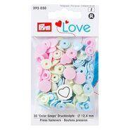 Drukknopen* - Prym Love drukknopen hart pastelkleuren (393.030)