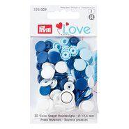 Druckknöpfe - Prym Love drukknopen blauw/wit (393.009)
