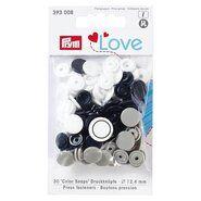 Drukknopen* - Prym Love drukknopen donkerblauw/grijs/wit (393.008)