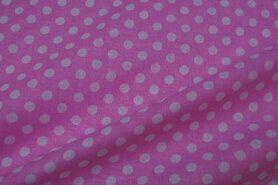 LB katoen aanbieding - LB30 Katoen noppen roze/wit