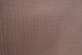 Stoffen uitverkoop - NB 11251-037 Hydrofieldoek kleine ankertjes zalm