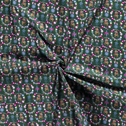 Baumwollstoffe - NB20 Dapper 14395-026 Baumwolle Hirsch/Herz/Vögel grün
