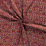 Baumwollstoffe - NB20 Dapper 14395-056 Baumwolle Hirsch/Herz/Vögel brique