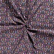 Baumwollstoffe - NB20 Dapper 14395-068 Baumwolle Hirsch/Herz/Vögel anthrazite