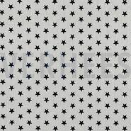 By Poppy - ByPoppy20 4955-101 Katoen little stars wit/zwart