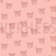 By Poppy 2020 - ByPoppy20/21 7661-001 Poplin leopard portrait roze