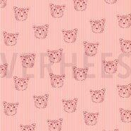 By Poppy - ByPoppy20/21 7661-001 Poplin leopard portrait roze