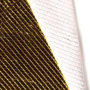 Wattierte - NB20 13548-035 Durchgestickter Stoff Raute klein metallic gelb