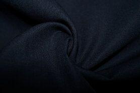 Stoffen uitverkoop - KN 0150-600 Katoen donkerblauw