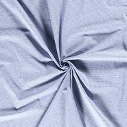Laken - NB 5581-006 Baumwolle mini Karo blau 0.2 cm