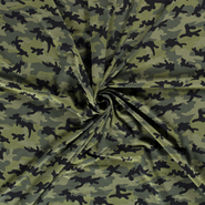 Leger motief - NB20/21 14428-025 Tricot camouflage groen