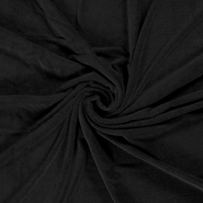 Badstof - NB 14533-069 Rekbare badstof Bamboe zwart