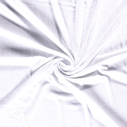 Babycape stof - NB 14533-050 Badstof van 40% Bamboe wit