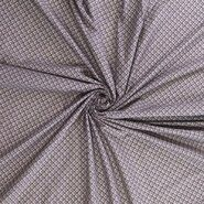 Polytex stoffen - Ptx20/21 400000-1 Katoen fantasieprint beige/donkerblauw