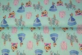 Kinderprint - Stenzo20/21 16538-09 French Terry digitaal Princess turquoise